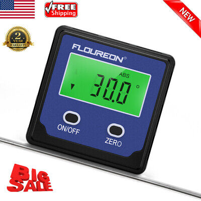 Portable Digital LCD Angle Gauge Level Finder Protractor Inclinometer Bevel Box