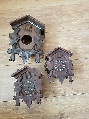 ANTIQUE  CUCKOO CLOCKS  spares or repair