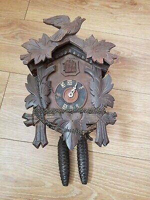 ANTIQUE  CUCKOO CLOCK spares or repair