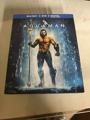 Aquaman, 2019 (Blu-Ray + DVD + no code. open but new.