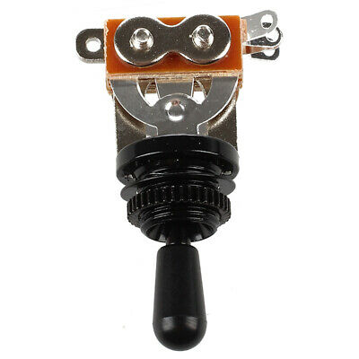 Black Tip 3 Way Toggle Switch Pickup Selector for Electric Guitar R7G3