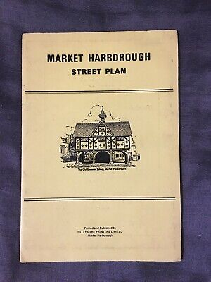 Market Harborough Vintage Map  Street Plan Great Bowden Little Bowden