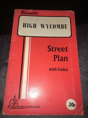 Barnett's Vintage Map High Wycombe Street Plan with index