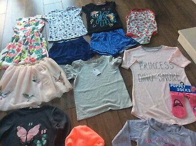 Girls Summer Clothes Bundle age 6-7-8 years Next H&M Tu 13 Items
