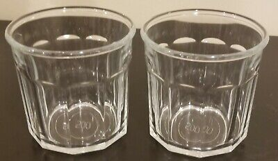 Luminarc 500 Glass Tumbler 10 Panel 12oz Vintage Made in France Set of 2 classic