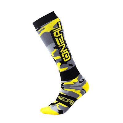 O´Neal PRO MX Sock Socken HUNTER black/gray/neon yellow (One Size)