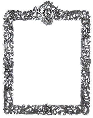 VICTORIAN Sterling Silver Picture Frame or Mirror English Hallmarks TOP ONLY