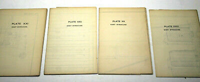 4pc 1904 East Syracuse NY 1 inch=200 Ft Maps of Proposed Sewage Disposal Plant