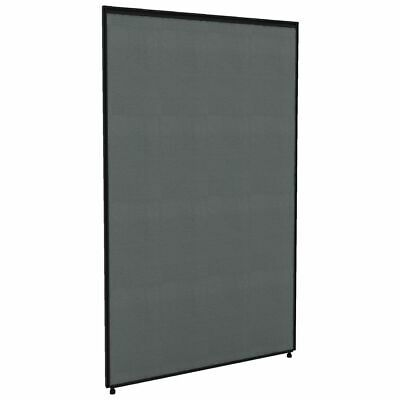 Partition Screen 750 x 1250 Black Frame Grey Fabric