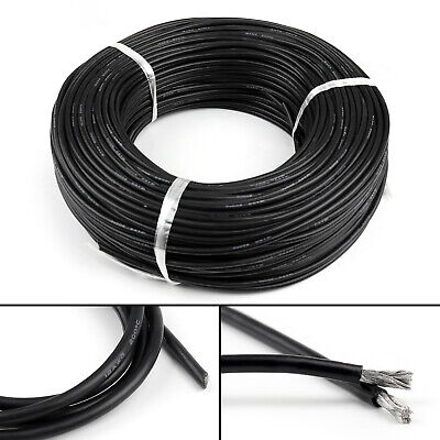 5 M Flexible Stranded Silicone Rubber Wire Cable 10AWG Gauge OD 5.4mm Black AR