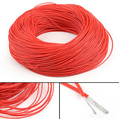 5M Flexible Stranded Silicone Rubber Wire Cable 22AWG Gauge OD 1.7mm Red CA