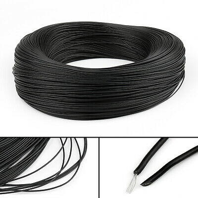 20M Black Flexible Stranded UL1007 26AWG Electronic Wire PVC Cable 300V ROHs CA