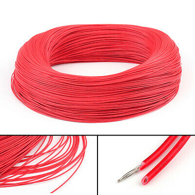 20M Red Flexible Stranded UL1007 24AWG Electronic Wire PVC Cable 300V ROHs CA