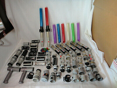 Star Wars Build Your Own Customizable Lightsabers & Parts Lot 8 Sabers 58 Parts