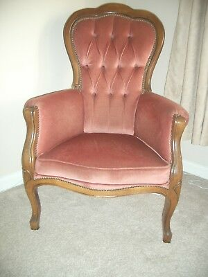 BOUDOIR MAHOGANY QUALITY early 20th century french style LOUIS ARMCHAIR CHAIR