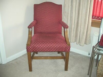 Gainsborough Style Library/ desk Chair -mahogany Frame