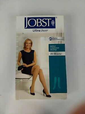 Jobst UltraSheer  Medical Knee High Stockings Natural Medium FREE SHIP
