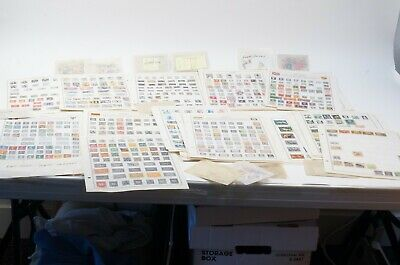 Lot 1000s of World Stamps on 100s of Harris Citation Pages + Loose Mint & Used