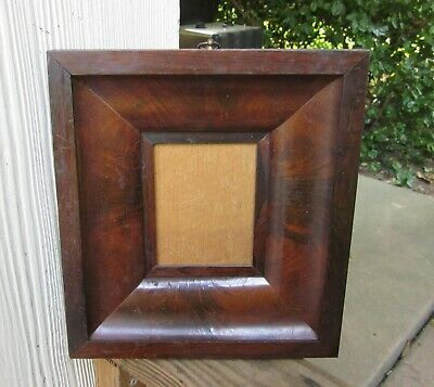 c1850 Flame Mahogany Rosewood Quarter Plate 1/4 Victorian Ogee Daguerreotype Frm