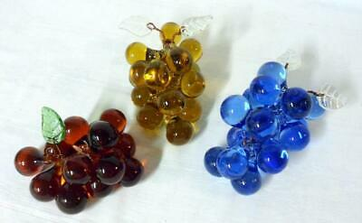 Mid Century Modern Art Glass Murano Italian Grape Lot