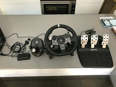 Logitech G920 Driving Force Racing Wheel and shifter.