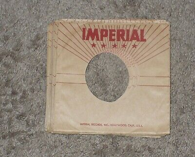 Lot of 16 Late 50's Style Imperial FACTORY 45 RPM SLEEVES  VG++ to EX++