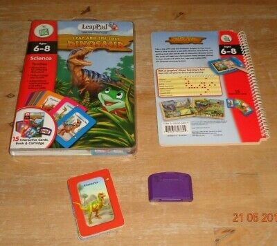 Leapfrog Leappad book&cartridge- Leap & The Lost Dinosaur with interactive cards