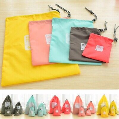 4Pcs/set Travel Shoes Laundry Lingerie Cosmetic Storage Bags Drawstring Pouch US