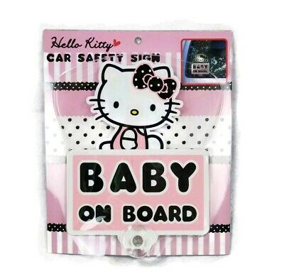 Sanrio Hello Kitty Baby On Board Car Suction Large Window Sign Decal