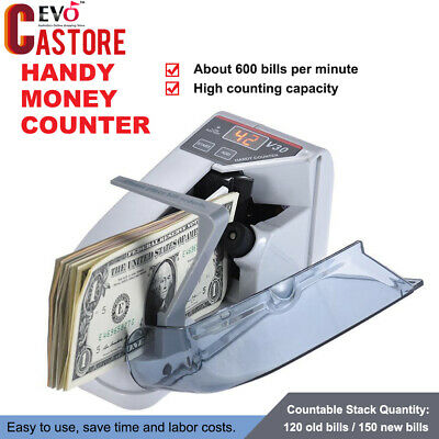 Handy Bill Currency Counter Mini Cash Money Counting Machine Indoor/Outdoor Use