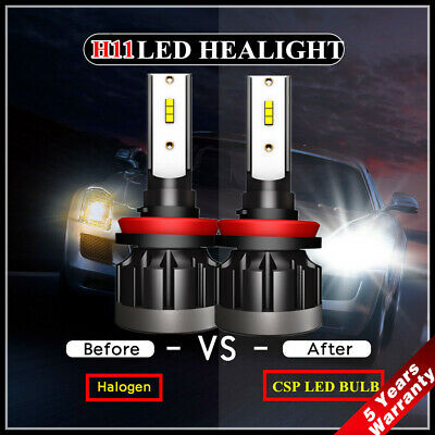 2X 110W H8 H9 H11 LED Headlight CSP Chip Bulb Kit Error Free 30000LM White 6000K