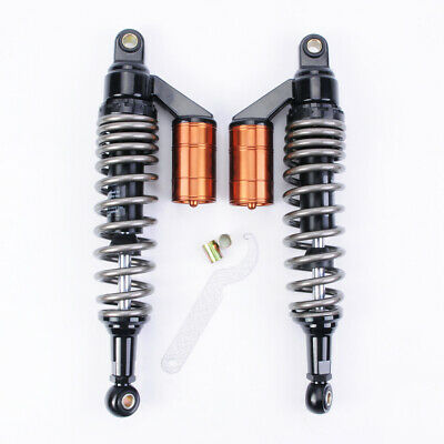 PAS 2pcs Shock Absorbers 360mm Motorcycle Replacement Round Ends For Scooter ATV