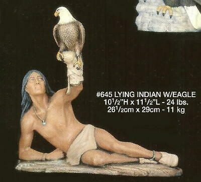 "INDIAN WITH EAGLE (12"") Mike's Ceramic Mold NATIVE AMERICAN"