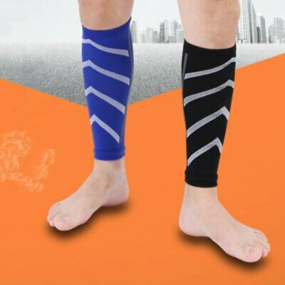 One Pair Running Calf Support Graduated Compression Leg Sleeve Sports S ◎DK