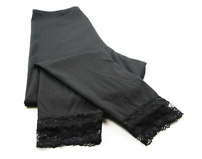 Womens Maternity ¾ Black Leggings Cotton Pants Yoga Legging Lace Baby S M L Xl