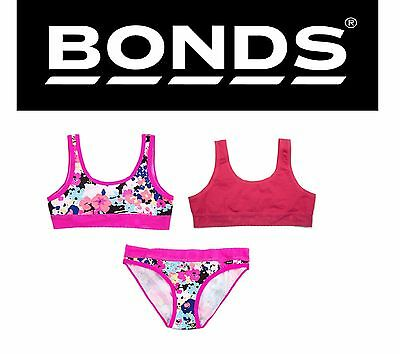 New Girls Kids Bonds Lacies Cotton Briefs Bikini Underwear Undies Crop Top