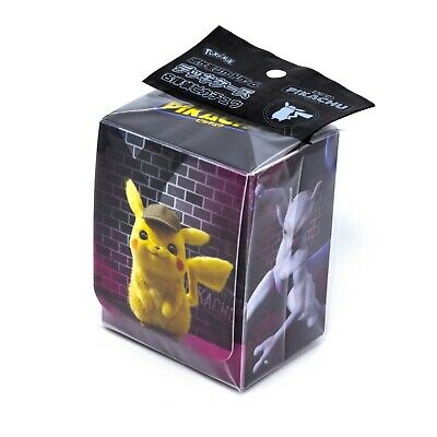 Pokemon Center Japanese Detective Pikachu Deck Box Shield Card Protector