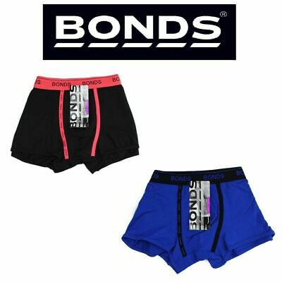 Mens Bonds Guyfront U Trunk Underwear Undies Trunks Blue Black Red S M L Xl Xxl