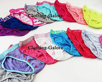 12 PAIRS x BONDS Girls Bikini Briefs Underwear Undies Brief - Assorted Colours