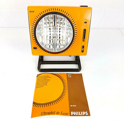 ~RARE~ Vintage 70s Philips HP3115 Ultraphil de Luxe Sun Lamp Made in Holland