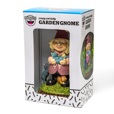The Crazy Cat Lady Garden Gnome NEW