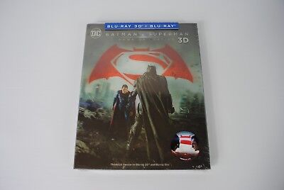 Batman v Superman 3D + 2D Blu-ray Steelbook Lenticular Slip Novamedia Exclusive