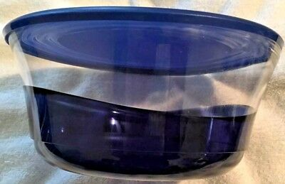 Tupperware Sheerly Elegant Sapphire Medium Bowl 9.5 Cups with Seal in Blue New