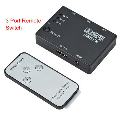 3 Or 5 Port HDMI Switcher Splitter Switch Selector Hub+Remote 1080p For HDTV PS3
