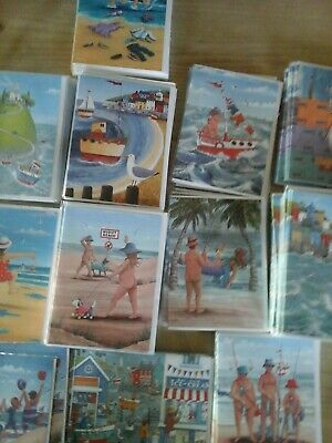 50 Seaside Sizzler Cards, Wholesale Joblot Greeting Cards