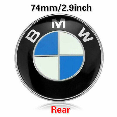 NEW Replacement Car Emblem Chrome Hood Badge Logo 74mm 2 Pins For BMW Rear Trunk