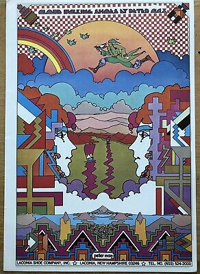 Vtg Peter Max Chelsea Bank Psychedelic Art Deco Poster 1971 11x16