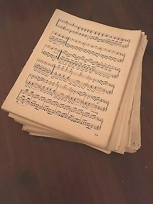 100g Vintage Sheet Music Paper WITH PENCIL MARKS ON Decoupage, SHABBYCHIC A4 Ish