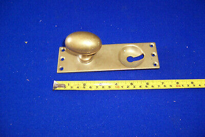 Antique Gibbons Wolverhampton brass door knob handle with keyhole
