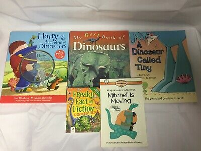 5x Children's Dinosaur Books Freaky Fact or Fiction Harry and the Bucketful